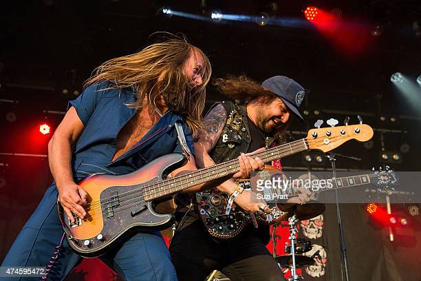 Magic Jake and Kyle Thomas of King Tuff perform at the Sasquatch Music Festival at The Gorge on May 23 2015 in George Washington
