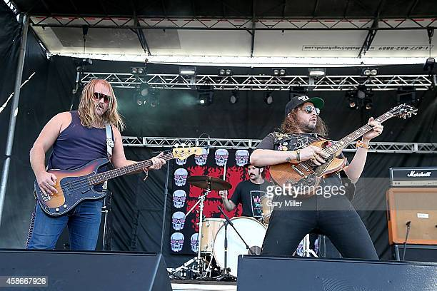Magic Jake Garett Goddard and Kyle Thomas of King Tuff perform in concert during day 2 of FunFunFun Fest at Auditorium Shores on November 8 2014 in...