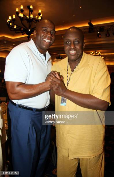 Magic Johnson and Bill Duke during 2006 ABFF Independent Film Awards July 23 2006 at RitzCarlton Hotel in Miami Florida United States