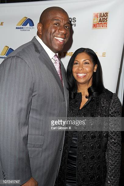 Magic Johnson and Cookie Johnson appear on the red carpet at the 10th Annual Heroes In The Struggle Gala Concert on December 1 2010 in Hollywood...