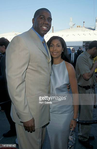 Magic Johnson and Cookie Johnson at the 13th Annual Soul Train Music Awards Shrine Auditorium Los Angeles