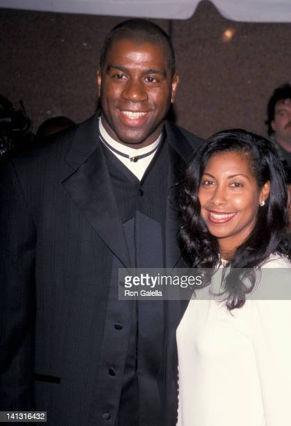 Magic Johnson and Cookie Johnson at the 1999 Essence Awards Madison Square Garden New York City