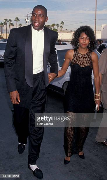 Magic Johnson and Cookie Johnson at the 8th Annual Soul Train Music Awards Shrine Auditorium Los Angeles