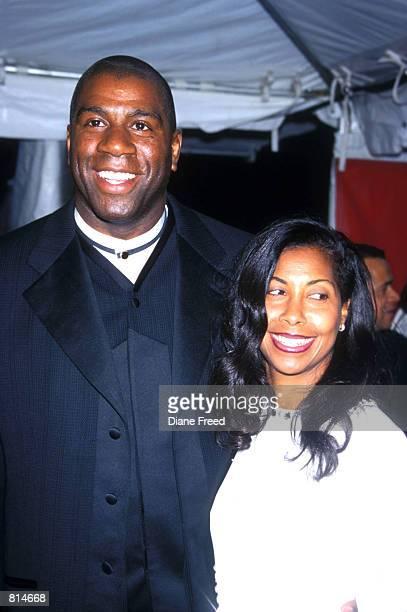 Magic Johnson and wife
