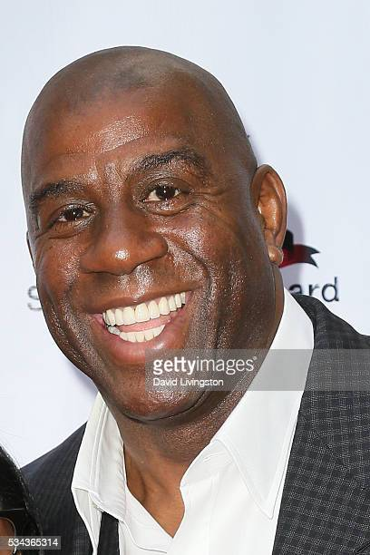 Magic Johnson arrives at the 7th Annual Big Fighters Big Cause Charity Boxing Night Benefiting The Sugar Ray Leonard Foundation at The Ray Dolby...