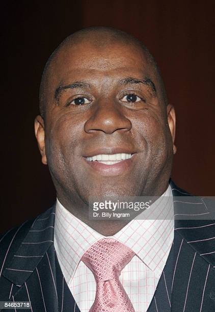 Magic Johnson arrives at the 8th Annual Heroes In The Struggle Gala at the Walt Disney Concert Hall on February 4 2009 in Los Angeles California