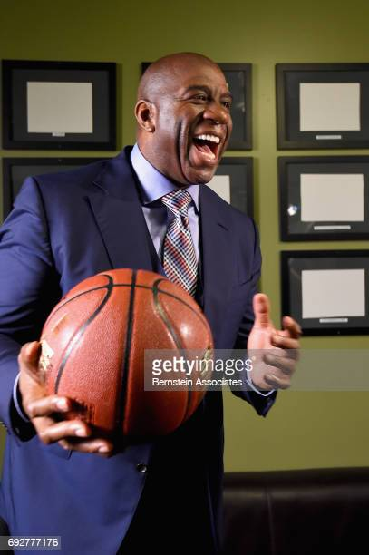 Magic Johnson attends the American Express Teamed Up with Magic Johnson and Pat Riley on June 5 2017 at the Conga Room in Los Angeles California