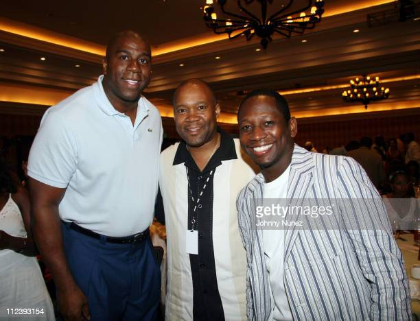 Magic Johnson Don Friesson and Guy Torry during 2006 ABFF Independent Film Awards July 23 2006 at RitzCarlton Hotel in Miami Florida United States