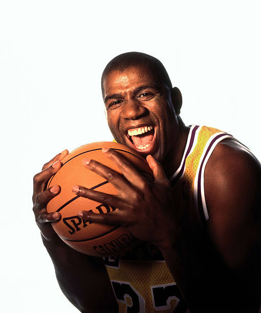Magic Johnson of the Los Angeles Lakers