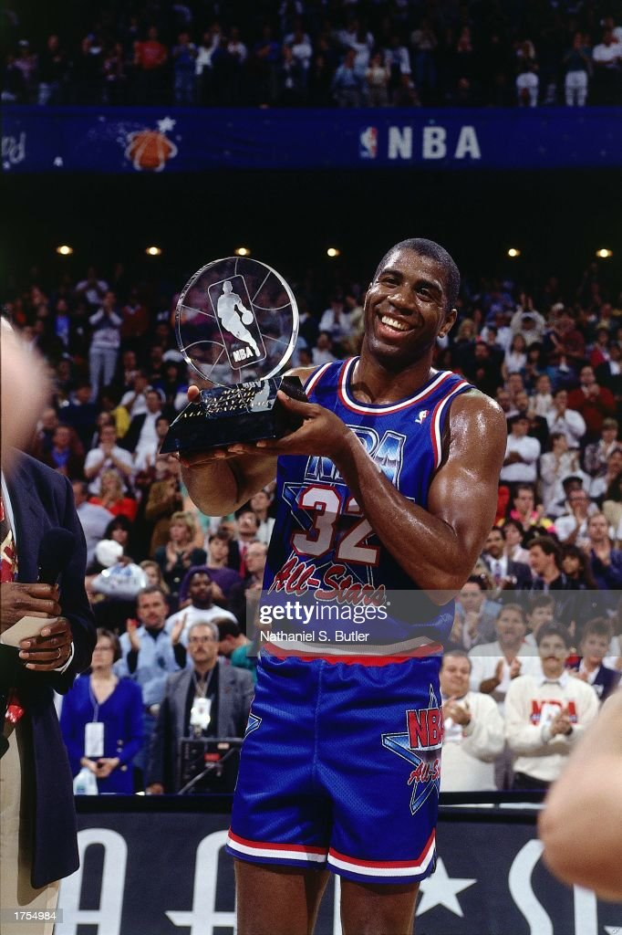 Magic Johnson All-Star MVP Trophy : News Photo