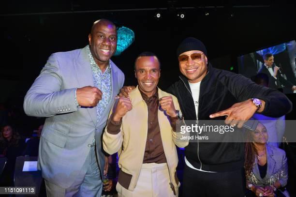 Magic Johnson Sugar Ray Leonard and LL Cool J attend Sugar Ray Leonard Foundation's 10th Annual 'Big Fighters Big Cause' Charity Boxing Night...
