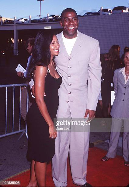 Magic Johnson Wife Cookie during Hoodlum Premiere at Magic Johnson Theatre in Los Angeles California United States