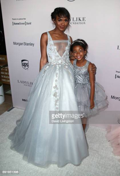 Magic Johnson's daughter Elisa Johnson and granddaughter Gigi Johnson attend the Ladylike Foundation's 9th Annual Women of Excellence Awards gala at...