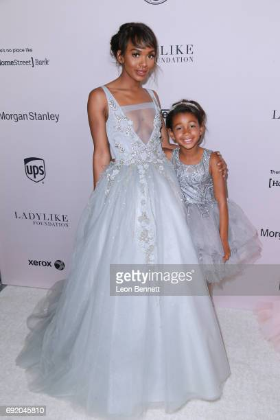 Magic Johnson's daughter Elisa Johnson and granddaughter Gigi Johnson attends the Ladylike Foundation's 9th Annual Women Of Excellence Awards Gala at...