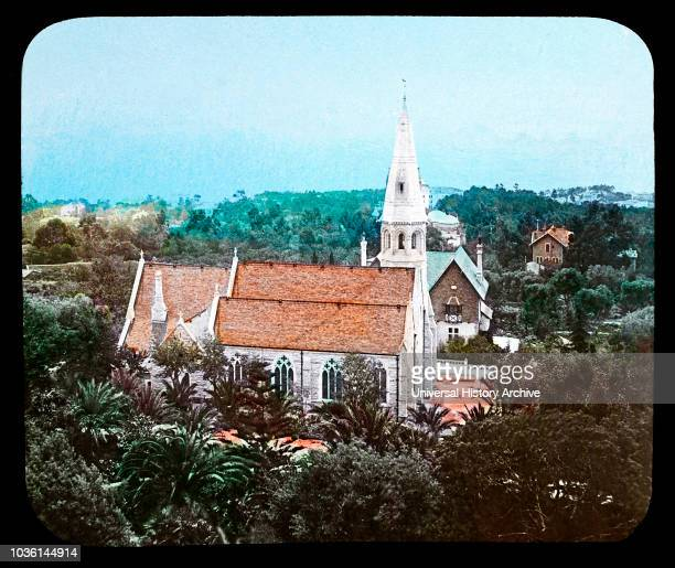 Magic Lantern slide circa 1900 Victorian or Edwardian era The origional monchrome photograph hand colouredThe photograph is the work of GW Wilson...