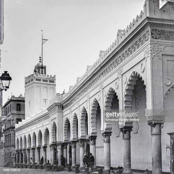 Magic lantern slide circa 1900Victorian/EdwardianSocial HistoryNo 4‰ÛÓ Colonnade of Djam'da FlKebir Mosque This is an excellent view showing the...