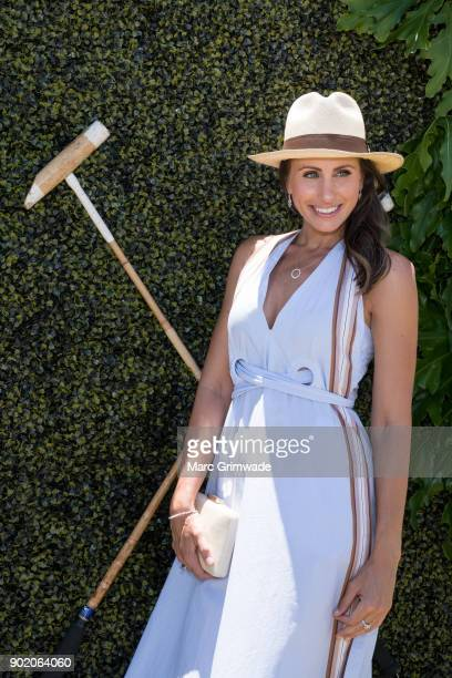Magic Millions ambassador Amanda Abate attends Magic Millions Polo on January 7 2018 in Gold Coast Australia