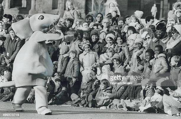 Magic moments Children and adults alike were thrilled by huge costumed cartoon figures like this mouse one of 900 such characters in the 1978 Santa...