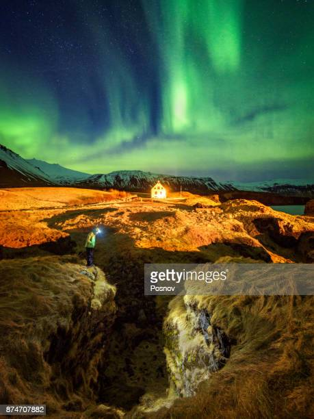 Magic night at Arnarstapi, Iceland