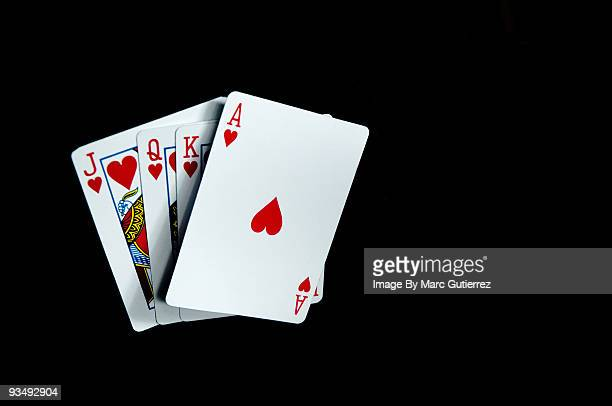 magic - hearts playing card stock photos and pictures
