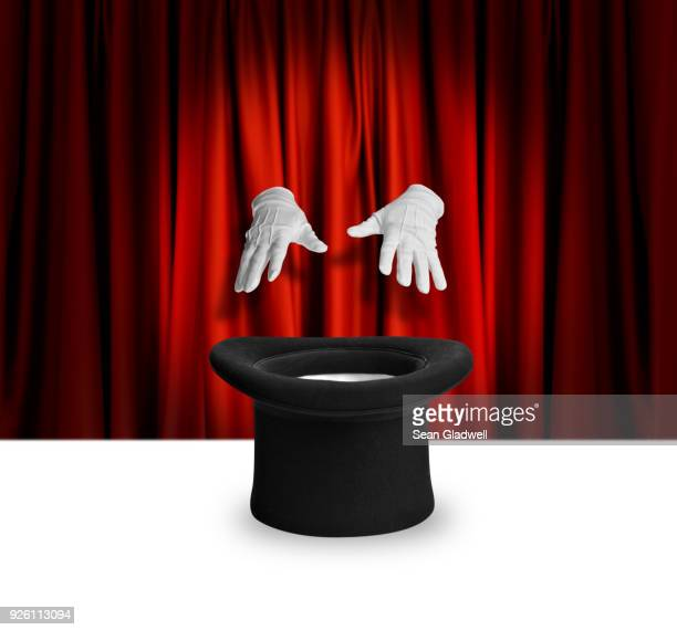 magic show trick - zaubertrick stock-fotos und bilder