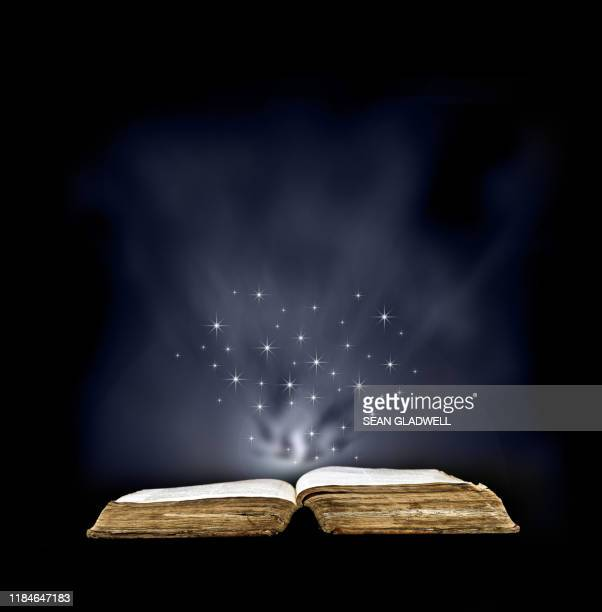 magic spell book - fairytale stock pictures, royalty-free photos & images