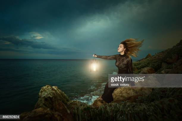magic spell in the night - wizard stock pictures, royalty-free photos & images