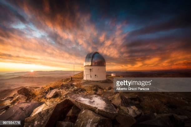magic sunrise at las campanas observatory - observatory stock pictures, royalty-free photos & images