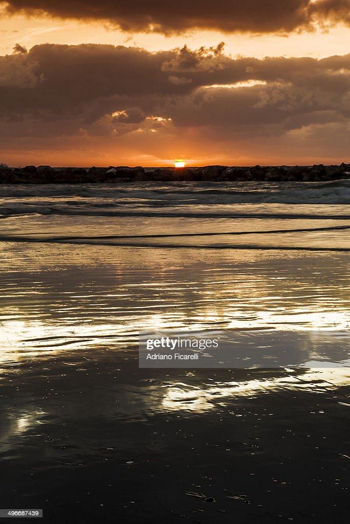 Magic sunset : Foto stock