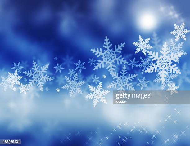 magic winter - snow moon stock pictures, royalty-free photos & images