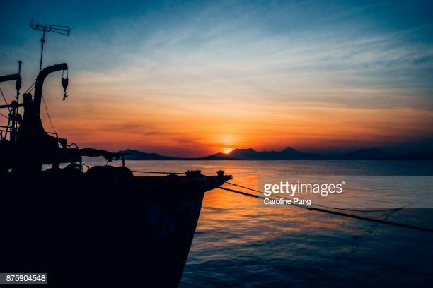 Magical hour at the port of Ende in Flores, Indonesia.