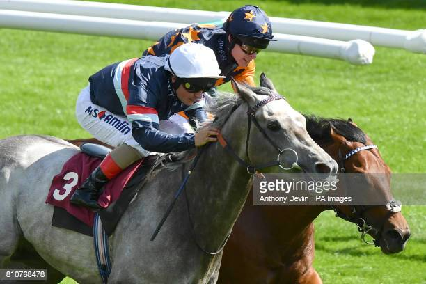Magical Memory ridden by Andrea Atzeni beats Kachy ridden by Richard Kingscote to win the The Bet365 Conditions Stakes during bet365 Old Newton Cup...