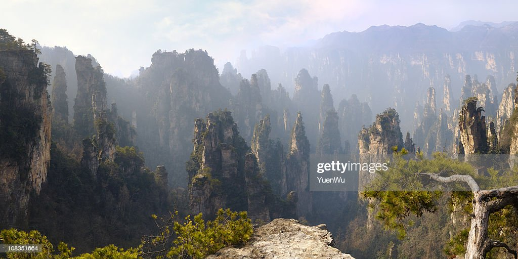 Magical mountains in the morning light : Stock Photo