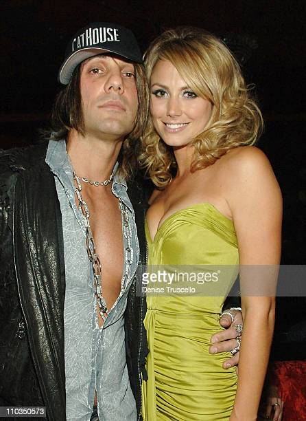 Magician Criss Angel and actress Stacy Keibler at an Evening Hosted by Stacy Keibler at CatHouse at Luxor Las Vegas on May 02 2008 in Las Vegas Nevada