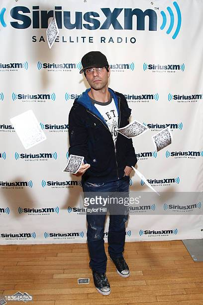 Magician Criss Angel visits the SiriusXM Studios on October 8 2013 in New York City