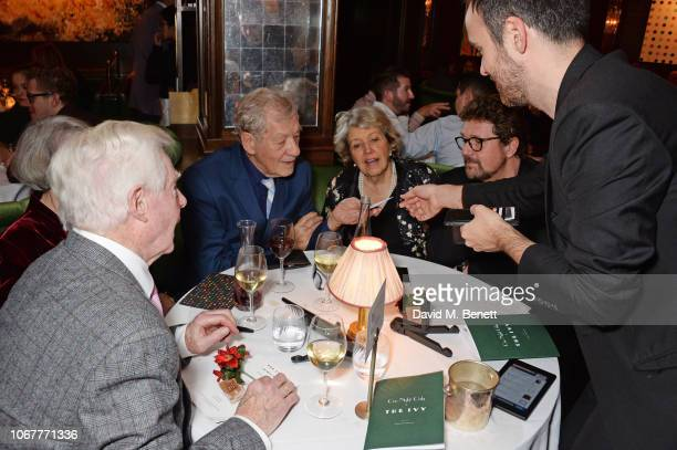 Magician Dan Farrant performs for Sir Derek Jacobi Dame Maggie Smith Sir Ian McKellen Anne Reid and Michael Ball at the annual 'One Night Only At The...