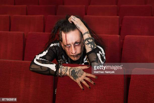 Magician Dan Sperry poses during a portrait session to promote his first solo tour at Admiralspalast on November 23 2017 in Berlin Germany