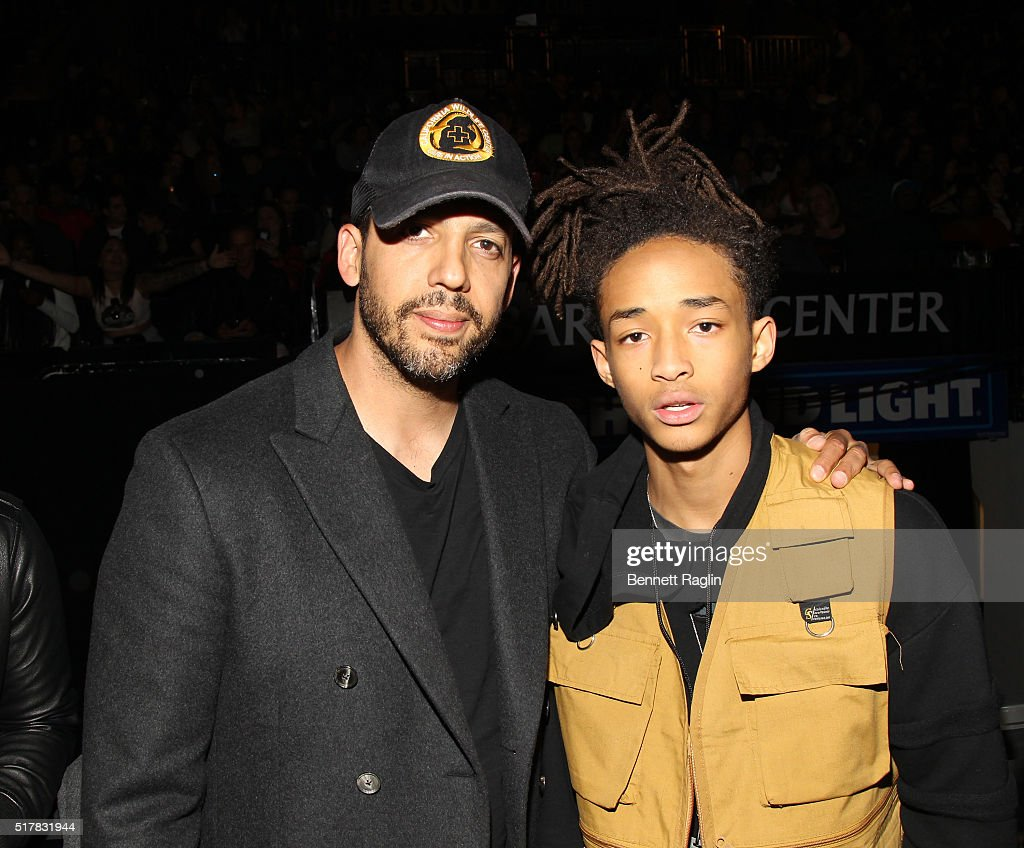 Magician David Blaine and Jaden Smith attend the D'USSE VIP Riser At Rihanna: ANTI World Tour at Barclays Center on March 27, 2016 in New York City.