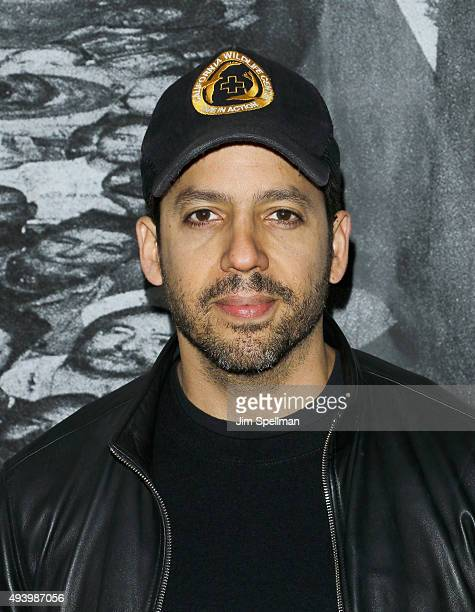 Magician David Blaine attends the 'Ellis' New York premiere on October 23 2015 in New York City