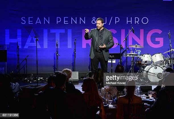 Magician David Blaine performs onstage during the 6th Annual Sean Penn Friends HAITI RISING Gala Benefiting J/P Haitian Relief Organizationat Montage...
