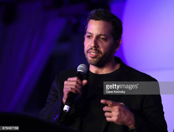 Magician David Blaine speaks during Genius Gala 60 at Liberty Science Center on May 5 2017 in Jersey City New Jersey