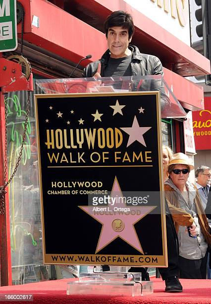 Magician David Copperfield at the Penn Teller Star ceremony on the Hollywood Walk Of Fame held on April 5 2013 in Hollywood California