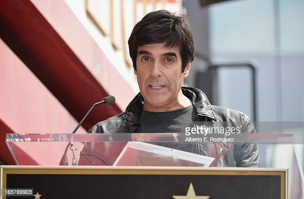 Magician David Copperfield attends a ceremony honoring Penn Teller with the 2494th star on the Hollywood Walk of Fame on April 5 2013 in Hollywood...