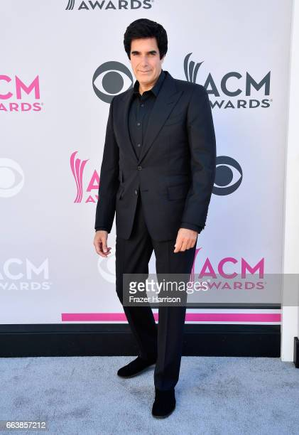 Magician David Copperfield attends the 52nd Academy Of Country Music Awards at Toshiba Plaza on April 2 2017 in Las Vegas Nevada