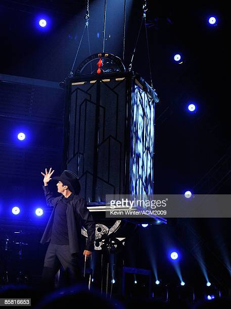 Magician David Copperfield performs onstage during the 44th annual Academy Of Country Music Awards held at the MGM Grand on April 5 2009 in Las Vegas...