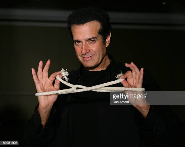 Magician David Copperfield poses during the launch his first Australian tour in 10 years 'David Copperfield An Intimate Evening of Grand Illusion' at...