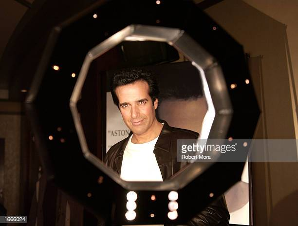Magician David Copperfield poses for a photograph prior to performing at The Magic of David Copperfield at the Kodak Theatre on November 29 2002 in...