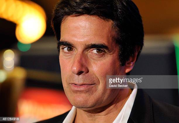 Magician David Copperfield speaks before the unveiling of a new slot machine The Magic of David Copperfield by Bally Technologies at the MGM Grand...