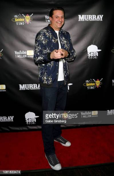 Magician Douglas Lefty Leferovich attends Murray SawChuck's celebration of 1 Million YouTube subscribers at The Golden Tiki on December 12 2018 in...
