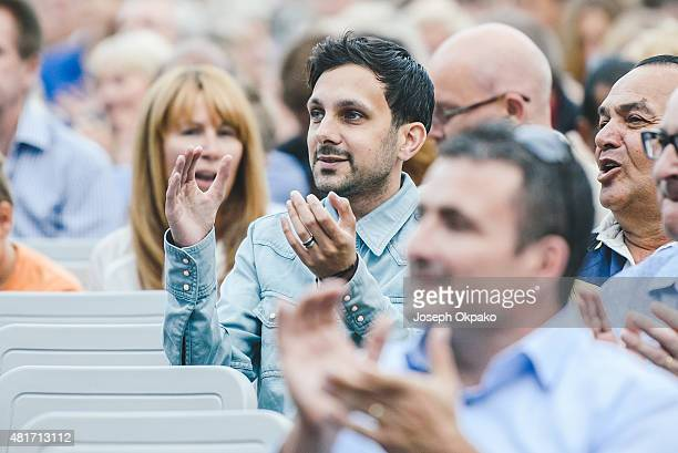 Magician Dynamo attends Day 1 of Greenwich Music Time festival on July 23 2015 in Greenwich United Kingdom